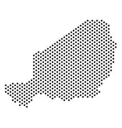 Dot niger map vector