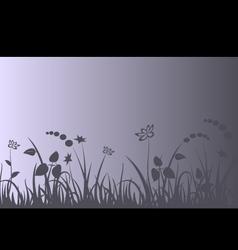 Evening meadow background vector