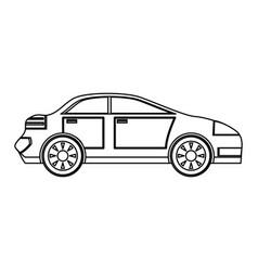 Familiar car vehicle vector