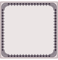 frame vintage pattern geometric vector image