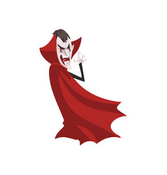 Furious count dracula vampire character in a red vector