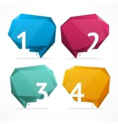 geometric bubble text menu vector image