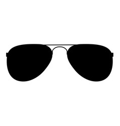 glasses the black color icon vector image