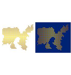 Golden dot limnos greek island map vector