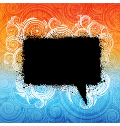 grungy speech bubble vector image