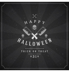 Halloween typographic design background and vector