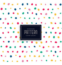 Hand drawn colorful round spots pattern background vector