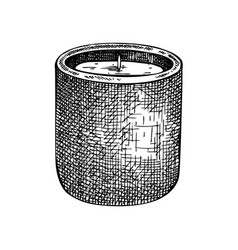 Hand-sketched aromatic candle vector