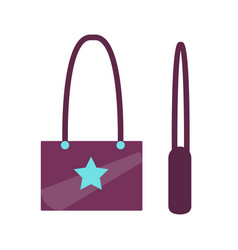 handbag with star sign object vector image