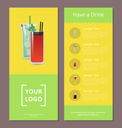 Have a drink advertisement poster design alcohol vector