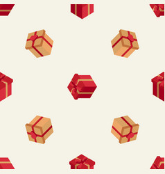 Holiday pattern with isometric boxes vector