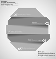 Infographic templete with motif octagon divided vector