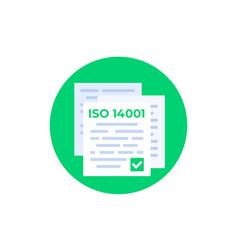 Iso 14001 standard icon vector