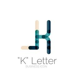 K letter logo minimal line design vector