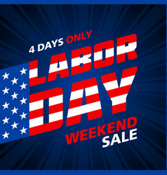 Labor day weekend sale advertising banner design vector