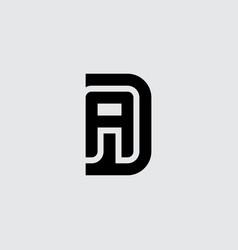 Letters d and a logo design minimalistic monogram vector