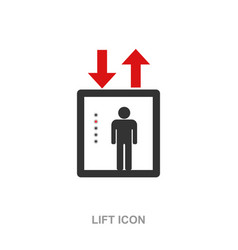 lift icon symbol isolated vector image