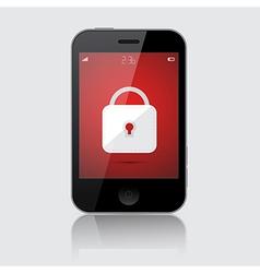 Locked Smartphone Isolated on Grey Backgroun vector image