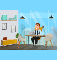 man in office vector image