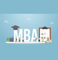 mba master business administration business vector image