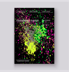 Neon colorful explosion paint splatter artistic vector