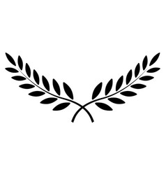 Olive branch laurel wreath winner vector