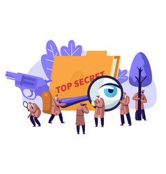 Police detectives private investigators at work vector