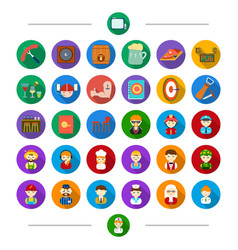 Profession vocation food and other web icon in vector