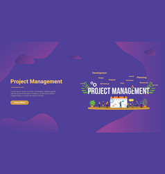 Project management concept with business calendar vector
