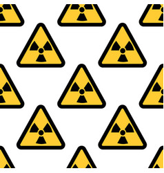 radiation warning sign seamless pattern isolated vector image vector image