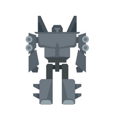 robot transformer icon flat isolated vector image