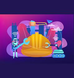 Robotics construction concept vector