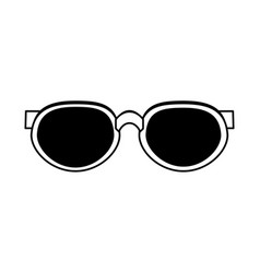 Round frame sunglasses icon image vector