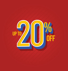 Sale discount up to 10 off template design vector