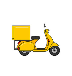 scooter courier vector image