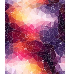 Seamless abstract triangle colorful pattern backgr vector image