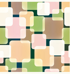 seamless pattern overlap and transparent squares vector image