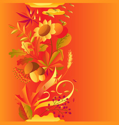 seamless pattern with stylized autumn items vector image