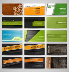 Set business cards8 vector