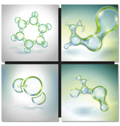 Set of Abstract molecules vector
