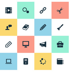 set of simple ui icons vector image