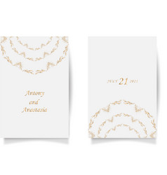 set wedding card flyer pages ornament concept vector image