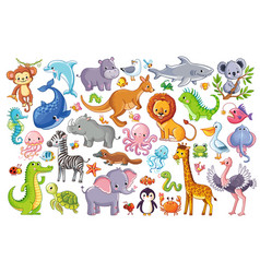 set with animals vector image