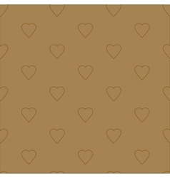 Simple and cute hearts seamless pattern vector image