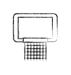 sketch draw basketball hoop vector image