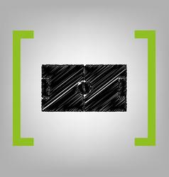 Soccer field black scribble icon in vector