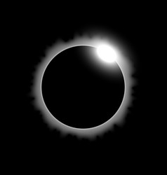 Solar eclipse white color vector