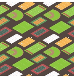Sport fields seamless pattern vector image