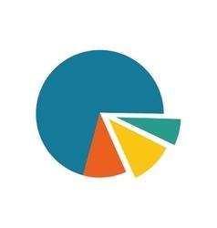 statistics pie chart vector image