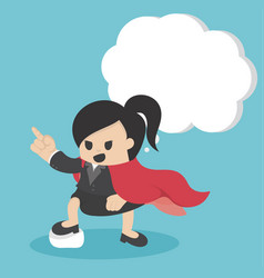 Super business woman pointing with confidence vector